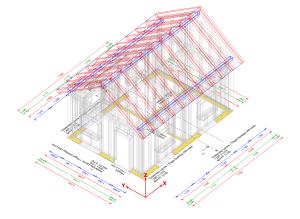Moduł konstrukcja dachu – geometria pomocnicza w kolorze