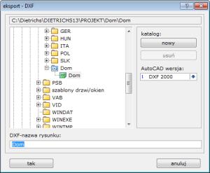 eksport DXF