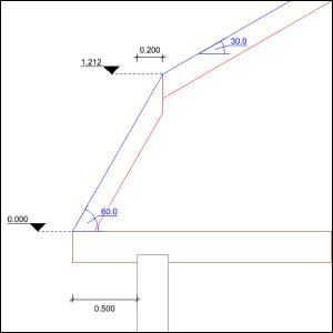 Dach mansardowy - rysunek nr 1