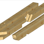 prefabrykowane elementy więźby dachowej
