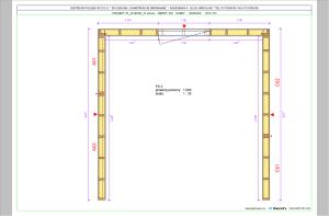 schemat układu paneli ściennych