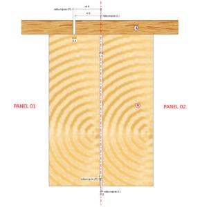 Połączenie paneli stropowych