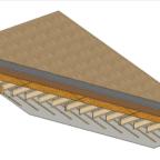 ustalenie warstw wchodzących w skład prefabrykowanych paneli stropowych