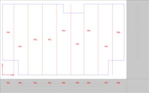 panele równej szerokości