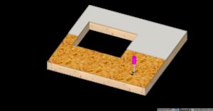 wiercenie otworów w płytach ściany szkieletowej pod puszki elektryczne