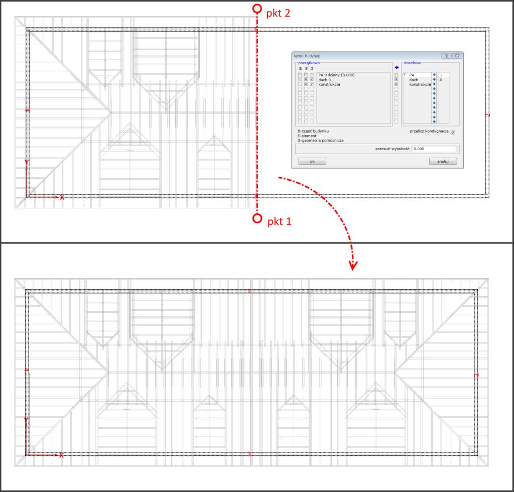 symetryczna więźba dachowa
