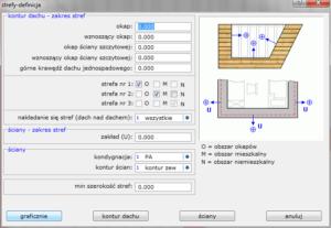 definicja strefy okapu dachu