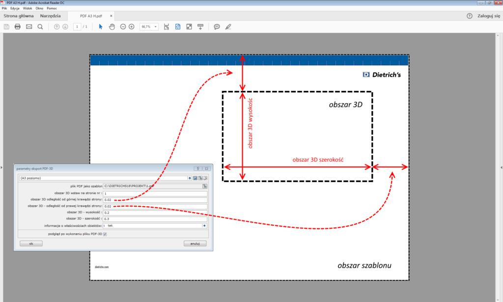 lokalizacja modelu 3D w pliku PDF