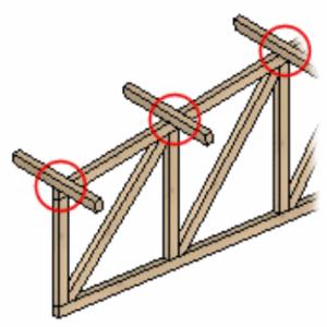 Stężenia zwichrzeniowe i wyboczeniowe według węzłów konstrukcji.