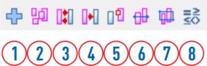 Aktywacja elementów pasek ikon.