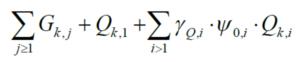 kombinacja obciążeń dla stanu granicznego użytkowalności wzór 6.14b