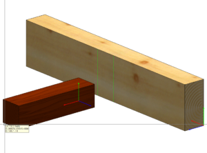 Parametry położenia znacznika belki na podciągu.