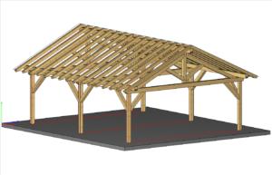 Wizualizacja - model teksturowany z krawędziami elementów