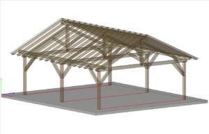 Wizualizacja - model teksturowany z krawędziami elementów i trybem przezroczystość