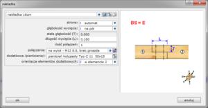 parametry połączenia - nakładka