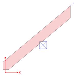 płaszczyzna ZoX elementu - widok z boku