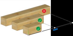 Elementy o długości mniejszej lub równej od wartości podanej