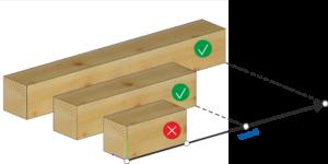 Elementy o długości większej lub równej od wartości podanej