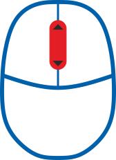 Myszka z kółkiem / scroll /