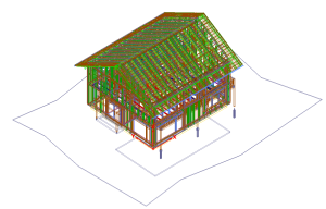 Prętowy model konstrukcji