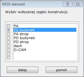 MOS-element selekcja
