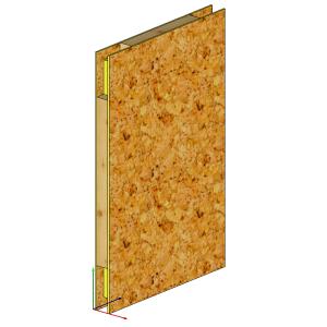 Panel SIP z frezowaniem pod elementy złączne