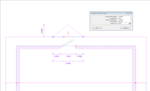 parametry wysunięcia trójkątnego okapu dachu