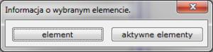 Info - element wybór elementów