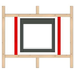 belki uzupełniające otwór okna połaciowego